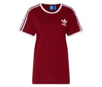 T-Shirt '3 Stripes' burgunder / weiß