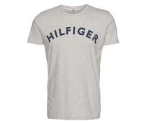 T-Shirt mit Logo-Print graumeliert