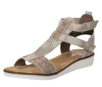Sandale mit kleinem Absatz beige