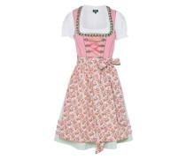 Dirndl 'Lorelai' grün / pink / weiß
