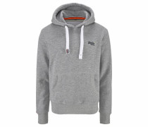 Kapuzensweatshirt 'orange Label Hood' hellgrau
