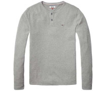 Langarmshirt »Thdm RLX Henley L/S 20« grau