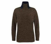 Pullover braunmeliert / schwarz