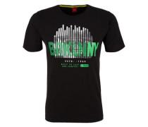 T-Shirt mit City-Print schwarz