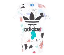 Logo-Shirt 'Color-Dab' mischfarben / weiß