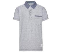kurzärmeliges Poloshirt 'nitkerem' blau