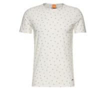 Bedrucktes T-Shirt 'Toughts 1' navy / weiß