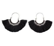 Ohrringe schwarz / silber