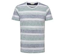 Rundhalsausschnitt-T-Shirt marine / pastellblau / weiß