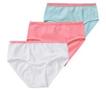3er-Pack Slips für Mädchen rosa
