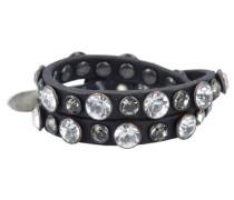 Armband 'Bracciali' 44 cm schwarz / silber