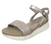 Metallic-Sandale schlammfarben