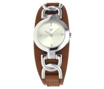 Armbanduhr braun / silber