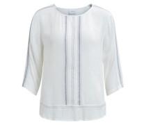 3/4-ärmelige Bluse blaumeliert / weiß