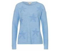 Pullover mit Sternmotiven hellblau