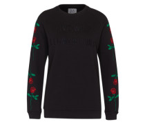 Sweater mit Stickerei 'zk-Pf171133' rot / schwarz