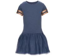 Kleid mit kurzen Ärmeln blau