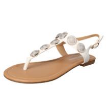 Sandaletten gold / weiß