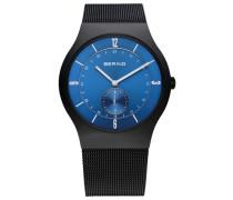 Armbanduhr blau / schwarz