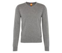 Pullover mit V-Ausschnitt 'Albono' hellgrau