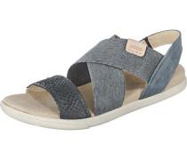 Sandalen 'Damara' beige / black denim