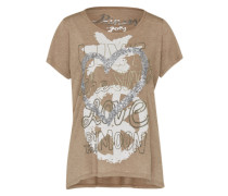Shirt 'Cool Heart' braun