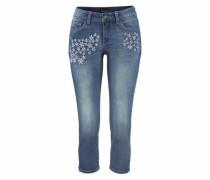 3/4-Jeans blau