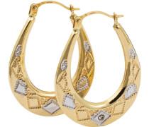 Creolen mit Diamanten gold