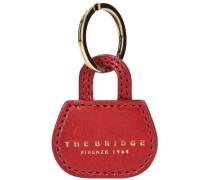 Passpartout Donna Bag Schlüsselanhänger Leder 5 cm gold / rot