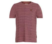 Male T-Shirt bordeaux / schwarz