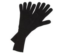 Strickhandschuhe aus Kaschmir schwarz