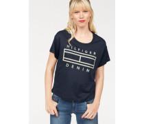 Bluse 'thdw Basic CN T-Shirt S/S 25' navy