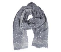 Schal mit Sternchenmuster blau