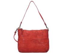 'Betulla' Schultertasche Leder 29 cm rot