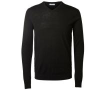 Pullover V-Ausschnitt schwarz