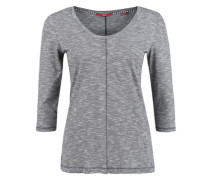 Meliertes Flammgarn-Shirt grau