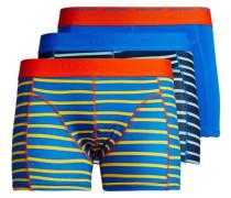 verspielte Boxershorts 3er-Pack blau / orange