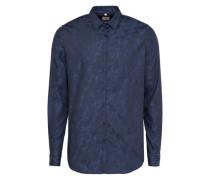 Oberhemd dunkelblau / schwarz