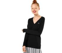 Pullover mit Label-Applikation schwarz