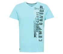 T-Shirt türkis / schwarz