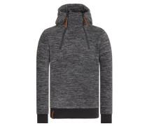 Hoodie 'Buskapé' grau / schwarz / schwarzmeliert