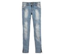 Jeans mit Reißverschlüssen für Mädchen blau