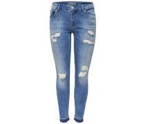 Knöchel-Skinny Fit Jeans 'Carmen' blue denim