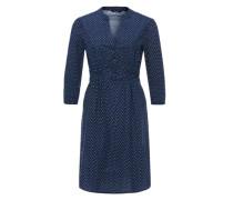 Blusenkleid 'Wimke retro' blau