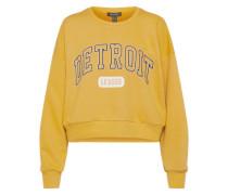 Sweater mit Flockdruck senf