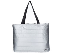 Metallic Packable Tote Shopper Tasche 49 cm silber