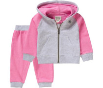 Baby Jogginganzug grau / pink