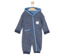 Onesie aus Sweatshirt-Stoff marine / himmelblau / dunkelblau / weiß