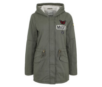 Parka mit Patches khaki
