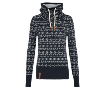 Pullover mit All-Over-Muster dunkelblau